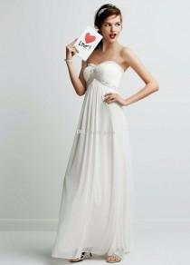 wedding photo -  Ultra-chic Strapless Bodice with Sweetheat Neckline Features Beaded Ruched Detail on Bust Summer Chiffon Beach Wedding Dress Online with $104.72/Piece on Gama's Store