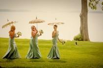 wedding photo - Lakefront Seafoam Whimsical Vintage Wedding