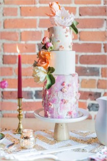 wedding photo - The 25 Prettiest Floral Wedding Cakes You've Ever Seen