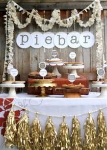 wedding photo - 22 Cozy Pie Bar Ideas For Your Wedding