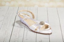 """wedding photo - 1"""" Wedge  Shoes - Wedge Shoe - Wedding Shoe - Choose From Over 200 Color Choices - Custom Wedding Shoe Wedge Wedding Shoe - Londonxox Shoe"""