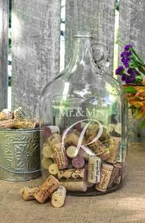 wedding photo - Cathy's Concepts 'Mr. & Mrs. - Wedding Wishes In A Bottle' Gallon Growler Guest Book