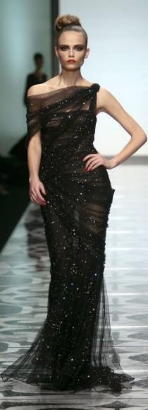 wedding photo - Love This Black Gown. Valentino.