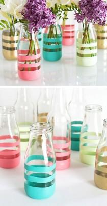 wedding photo - DIY Painted Bottles