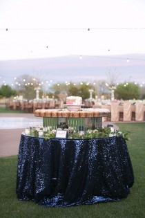 wedding photo - NAVY SEQUIN TABLECLOTH, Select Your Size, Glitz, Sequin Cake Tablecloth, Sequin Tablecloth, Wedding, Bling, Event, Decor, Sparkle, Party