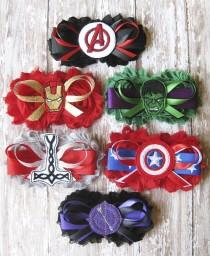wedding photo - Bridal Party Avengers Garter Set