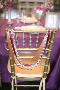 wedding photo - Reception Chair Decor On