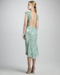wedding photo - Embroidered Lace Cocktail Dress