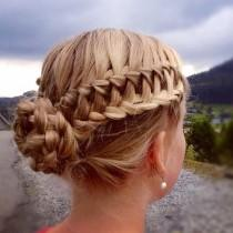 wedding photo - Waterfall Braid Bun - Trends & Style