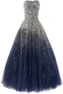wedding photo - It Looks Like The Night Sky Exploded On This Dress! :)