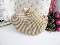 wedding photo - bags and purses, bridal clutches, bride, formal purse, bridal hand bag, swarovski crystal, rhinestones brooch, bridal purse, wedding clutch