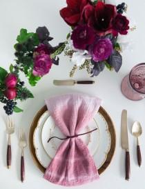 wedding photo - Hand-Dyed Napkin Rentals From GATHER Events And Borrowed BLU
