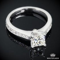 "wedding photo - 18k White Gold ""Scarlet"" Diamond Engagement Ring"