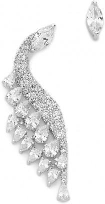wedding photo - Kenneth Jay Lane Pear Wing & Stud Earrings