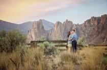 wedding photo - Engagement Photos At Smith Rock State Park In Oregon - The SnapKnot Blog
