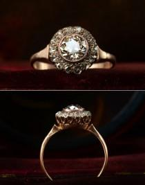 wedding photo - 1890s Victorian Rose Cut Diamond Ring