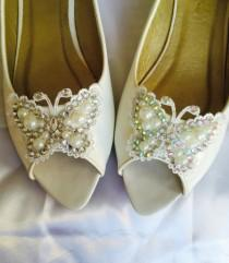 wedding photo - Wedding shoes Flat Peep Toe Wedding Shoes,Lace Butterfly Wedding Shoes,Wedding Bridal Lace Shoes,Bridal Wedding Flat Bridal Shoes