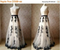wedding photo - Ivory Bridesmaid Dress. Lace Tutu Bridesmaid Dress. Strapless Wedding Dress. 2015 Floor Length Prom Dress. Flower Embroidery Custom Size