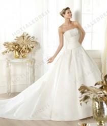 wedding photo - Wedding Dress - Style Pronovias Laurain Satin Strapless Model: pronovias-Laurain