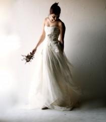 wedding photo - Wedding Dress, Boho Wedding Dress, Bohemian Wedding Dress, Romantic Wedding Dress, Ivory Lace Dress, Alternative Wedding Dress, Corset Dress