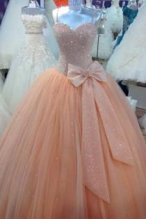 wedding photo - Strapless Prom Dress,Bow Prom Dress,Formal Prom Dress,Glitter Prom Dress,15040131 From Storybridal