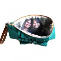 wedding photo - Photo Clutch- Rustic Ruffle Clutch- Birthday Gift Idea for Best Friend- Teal Red Purple And More