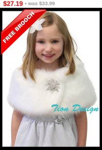 316e7ca696c5 PreHoliday Sale Bridal wrap, faux fur shrug, White Faux Fox Fur Wrap Fur  Shrug Faux Fur Stole Fur Shawl, bridal stole, for FLOWER GIRLS 3.