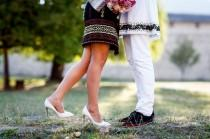 wedding photo - Traditional Romania Engagement Photos - The SnapKnot Blog