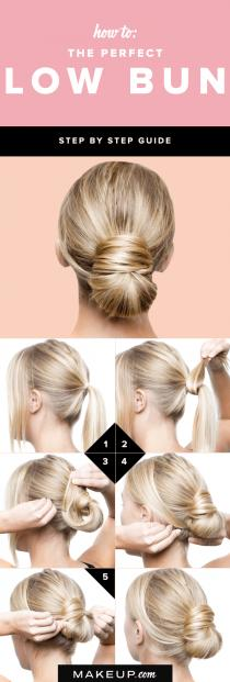 wedding photo - How To: The Perfect Low Bun