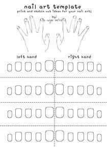 wedding photo - Free Printable Nail Art Template