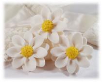 wedding photo - White Daisy Hair Flowers