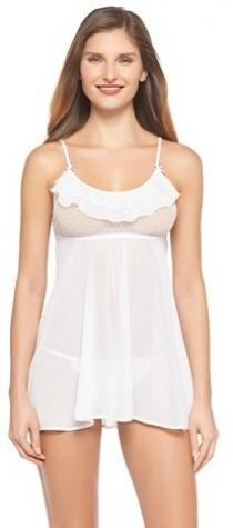 wedding photo - Gilligan & O'Malley Women's Bridal Babydoll Lingerie