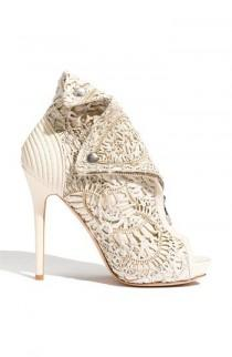wedding photo - Alexander McQueen Laser Cut Bootie