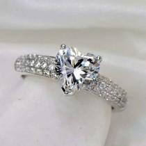 wedding photo - Heart Shaped Swarovski Elements Ring