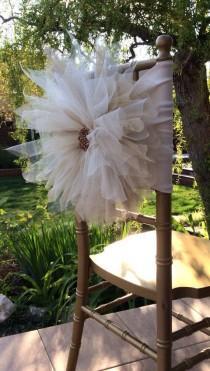 wedding photo - Chair Covers,Wedding Chair Cover,beautiful Flower Decoration Chair,chiavari Chair Cover