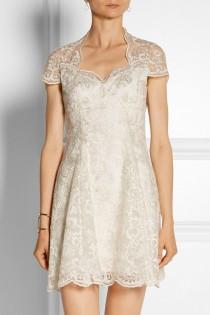 wedding photo - Marchesa Notte Embroidered Tulle Mini Dress