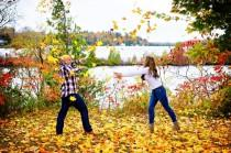 wedding photo - Fall Engagement Session In Ontario - The SnapKnot Blog