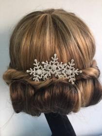 wedding photo - Winter snowflake hair comb -Wedding hair comb -  Bridal hair accessories - party headpiece.