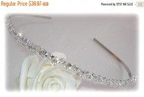 wedding photo - ON SALE 15% OFF Delux Crystal Band