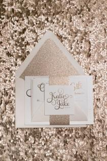 wedding photo - ADELE *FOIL* Sample - Rose Gold Glitter