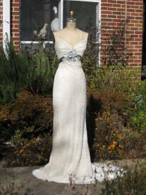 wedding photo - Creme Lace And Silk Charmeuse Bias Cut Gown One Of A Kind Reserved For Kezeigler