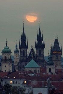 wedding photo - Moonrise, Prague, Czech Republic Photo Via Kjara (Blue Pueblo)