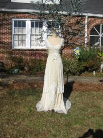 wedding photo - Glamorous Hippie One Of A KIND Beaded Gown REserved For Anna