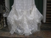 wedding photo - Ethereal Lace Bohemian Wedding Gown Reserved For Carrie