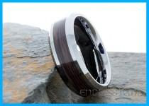 wedding photo - Tungsten Ring Wood Inlay Wedding Band Elegant Laser Engraving Mens Women Classic Modern New Anniversary Beveled Tungsten Band Wedding 8mm