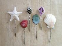 wedding photo - Shell Hair Pins, Ocean Hair Style, Beach Wedding, Mermaid Costume Accessory, Halloween, Festival, Summer Tropical Vacation, Hawaiian Luau