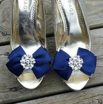 wedding photo - Shoe Clips, Wedding Shoe Clips, Bridal Shoe Clips, Clips for Wedding Shoes, Bridal Shoes, Satin Bridal Bows, Bow Shoe Clips