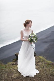 wedding photo - Milk Shade Open Back Wedding Dress With Cotton Slip