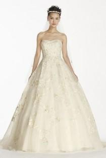 wedding photo - Petite Organza Ball Gown With Beaded Embroidery