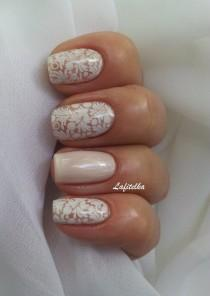 wedding photo - 50  Lace Nail Art Designs & Ideas